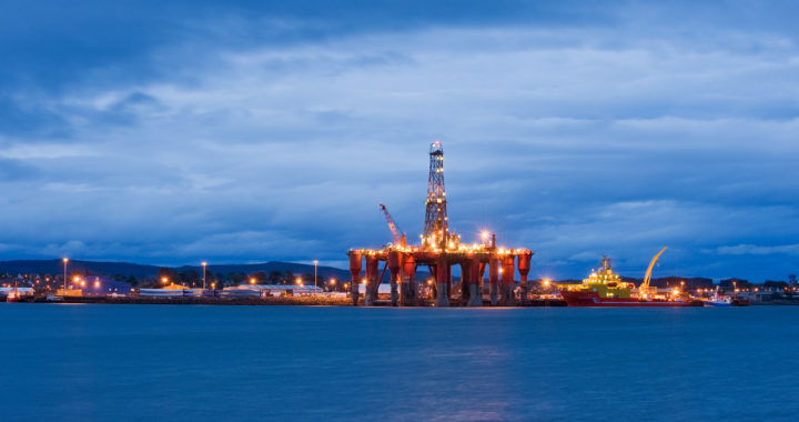 Oil rigs moored in Cromarty Firth. Invergordon, Scotland, UK -- Berardo62/flickr.com