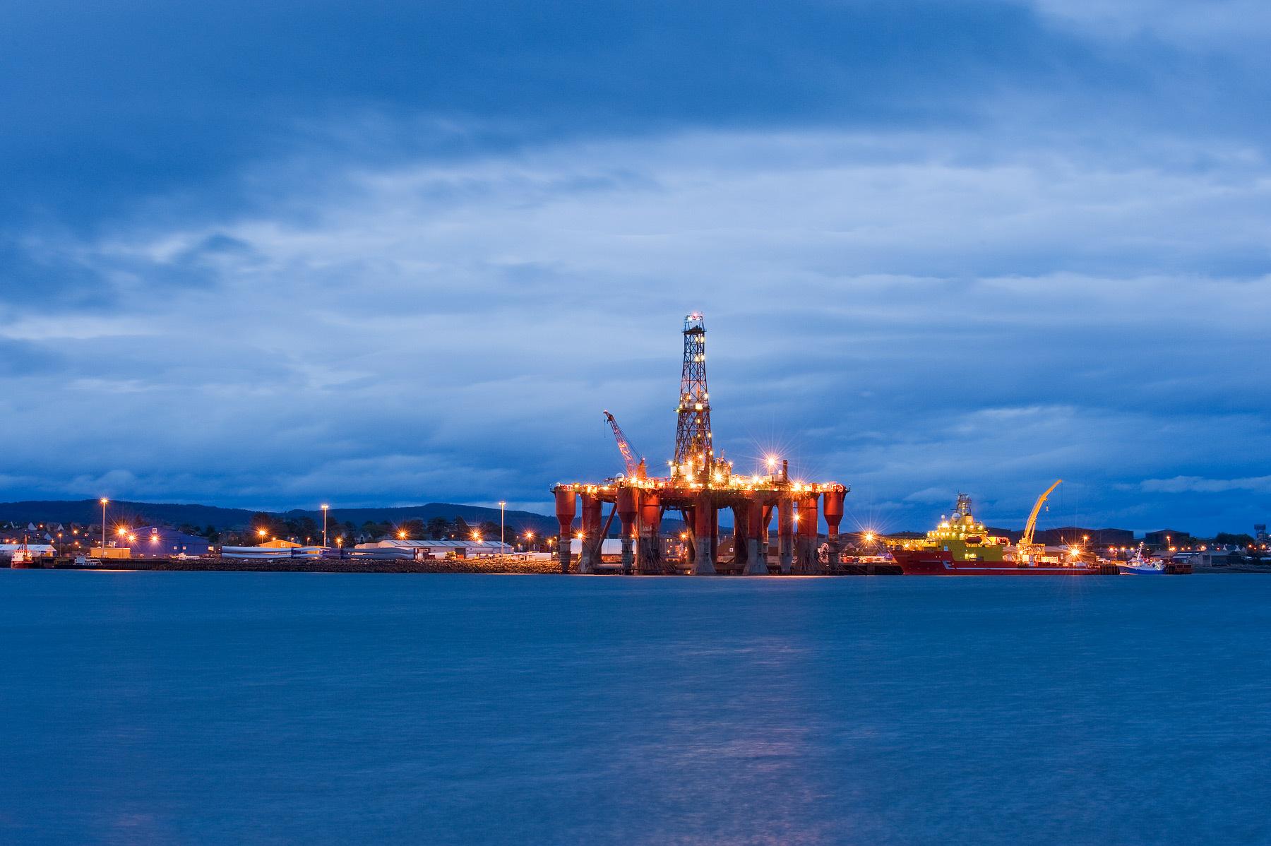Oil rigs moored in Cromarty Firth. Invergordon, Scotland, UK -- Berardo62/flickr.com