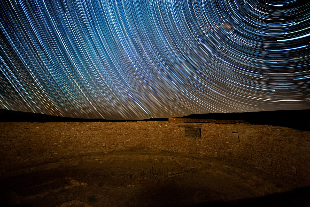 Star trails over Casa Rinconada/NPS Photo- D. Davis/NPS.gov